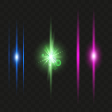 Glowing Neon Lights Line Abstract Banner Wallpaper