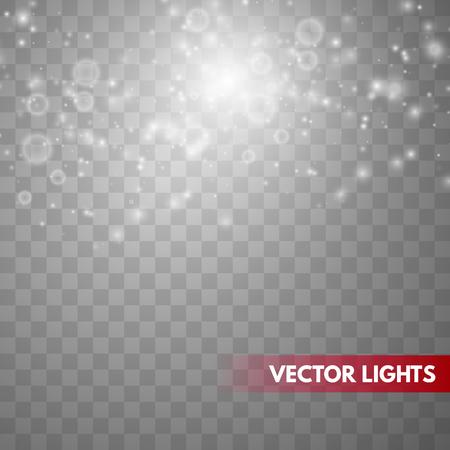 Illustration pour Glow light effect. Sparkle dust. Christmas flash. Vector illustration - image libre de droit