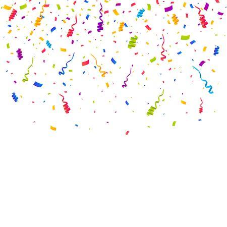 Illustration pour Color Confetti Background. Celebrate Party Vector Illustration - image libre de droit
