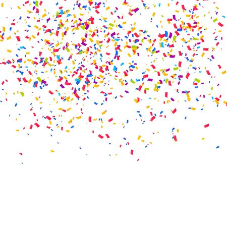 Illustration for Color Confetti Background. Celebrate Party Vector Illustration - Royalty Free Image