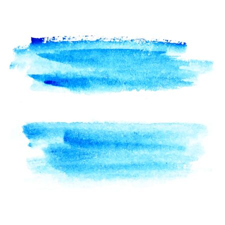 Illustration for Blue watercolor strokes painted by hand brush. For your design, background watercolor concept. - Royalty Free Image