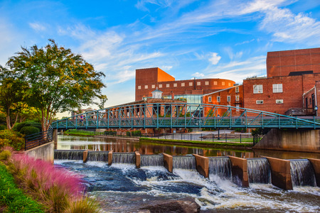 Reedy River Bridge and Wyche Pavilion Peace Center in Downtown Greenville South Carolina SC