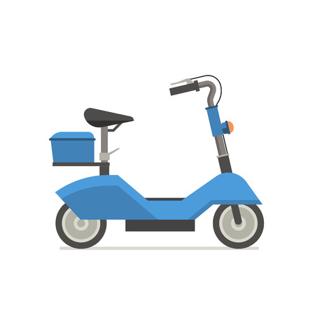 Illustration pour Electric scooter illustration. Balance bike in blue color isolated on white background. E-scooter icon. - image libre de droit