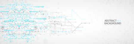 Illustration pour Abstract technological  with various elements. Structure pattern technology backdrop. - image libre de droit