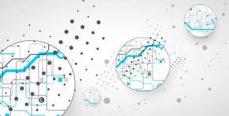 Ilustración de Abstract technology background. Communication concept, futuristic digital innovation art background. Vector illustration - Imagen libre de derechos