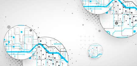 Illustration pour Abstract technology background. Communication concept, futuristic digital innovation art background. Vector illustration - image libre de droit