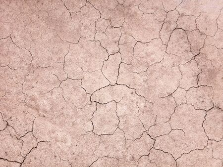 Photo pour The ground has cracks in the top view for the background or graphic design with the concept of drought and death. - image libre de droit