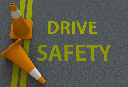Drive Safety, message on the road