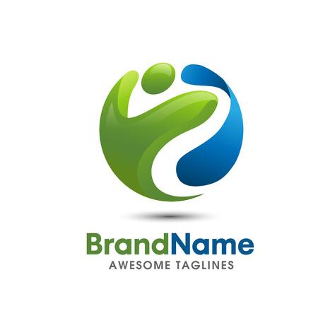 Illustration pour Save Download Preview fitness logo elegant and modern logo concept fitness logo suitable for healtcare and wellnes sport business - image libre de droit