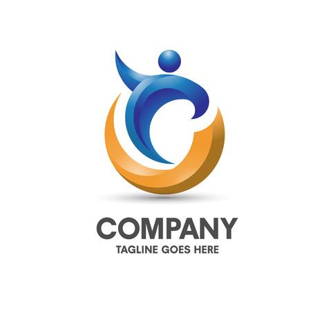 Illustration pour modern and elegant concept health coaching logo vector - image libre de droit