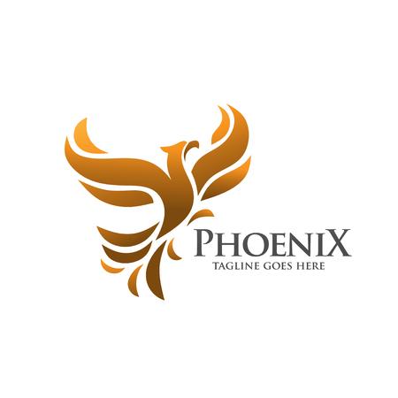 Illustration pour elegant and phoenix logo concept - image libre de droit
