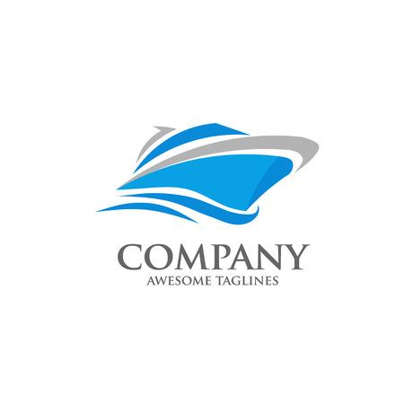 Ilustración de vector yacht, speed boat , ship logo concept - Imagen libre de derechos