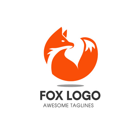 Illustration for Fox circle vector symbol. Fox sign or icon template. Creative fox animal face modern simple design concept. Isolated vector illustration. - Royalty Free Image