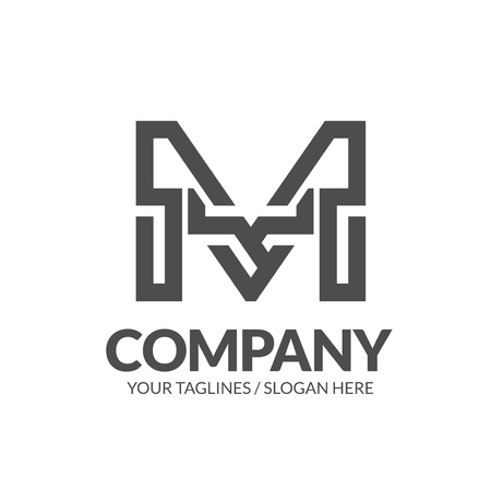 Illustration pour initial letter N geometric strong monogram logo vector illustration isolated on white background - image libre de droit
