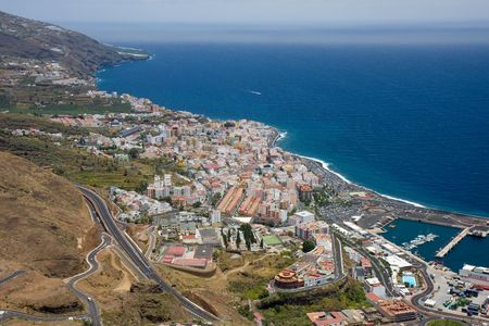 Cityscape op Santa Cruz, capital city of La Palma, Canary Islands