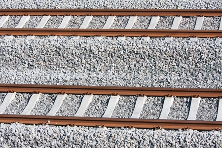 Tracks of a new railway in the netherlands