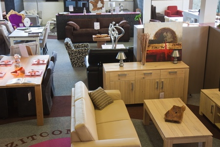 Shop with modern furniture