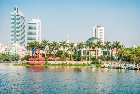 Modern city center of Hanoi, Vietnam