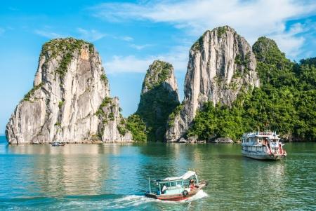 Two Boat in Ha Long Bay Vietnam