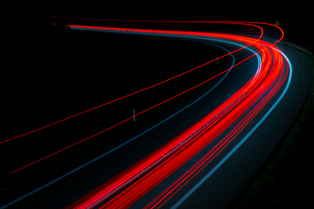 Photo for lights of cars with night - Royalty Free Image
