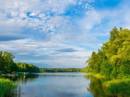 Photo for The beautiful  lake with a nice reflection on the water - Royalty Free Image