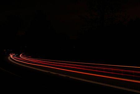 Photo pour lights of cars with night - image libre de droit