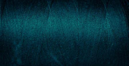 Photo pour blue cotton threads with visible details. background - image libre de droit