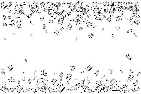Illustration pour Notes borders vector illustration - image libre de droit