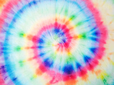 Photo for Watercolor Spiral. Organic Artistic Dirty Art. Spiral Watercolor Art. Rainbow Artistic Circle. Tiedye Swirl. Floral Spiral Effect. Watercolor Fabric. Trendy Fashion Dirty Paint. - Royalty Free Image