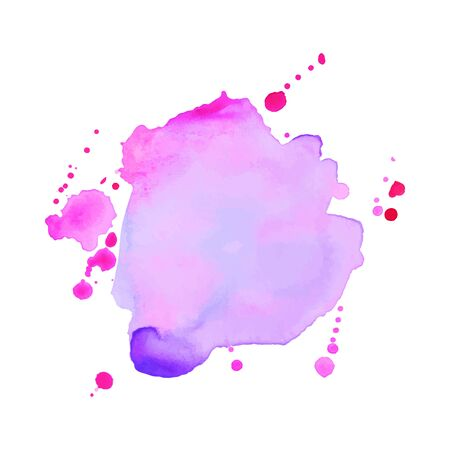 Illustration pour Abstract isolated watercolor hand drawn paper texture stain on white background for text design, web, label. - image libre de droit