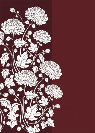 Illustration pour Elegant  flower background with chrysanthemums - image libre de droit