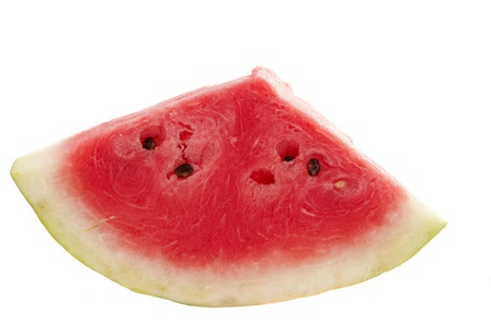 watermelon red on a white background