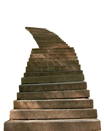 stone steps is isolated on a white background