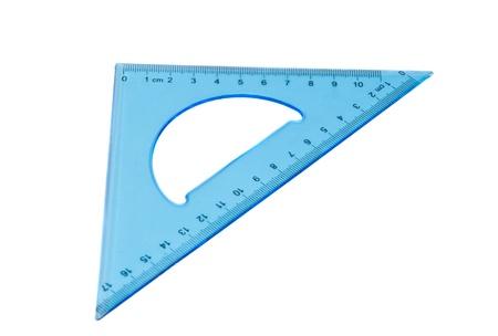 blue triangle isolated on white background