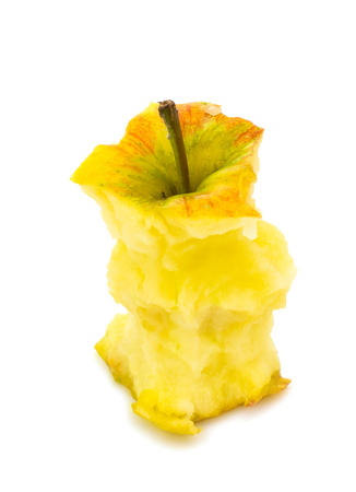 apple core isolated on white