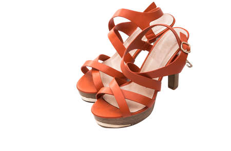 Women's sandals on a white background