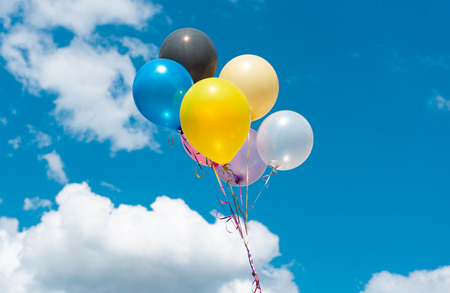 Photo for colored balloons against the sky - Royalty Free Image