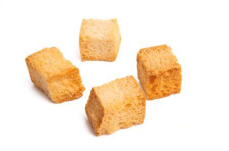 Photo pour crouton cubes isolated on white background - image libre de droit