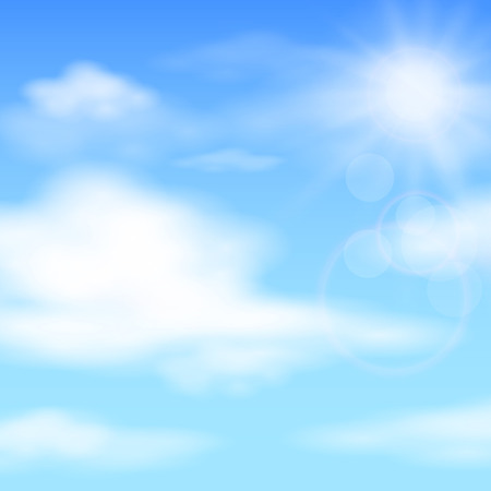 Illustration pour Summer blue sky, background illustration - image libre de droit