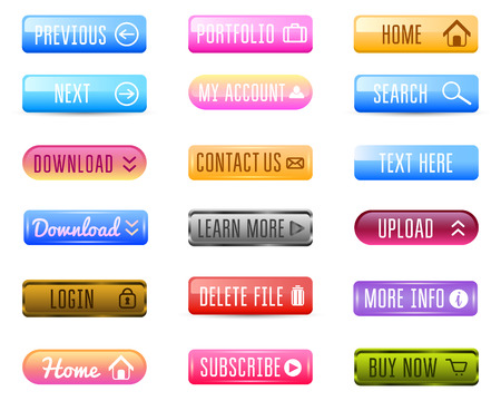 Collection of Web Buttons, Vector Templates, banners and