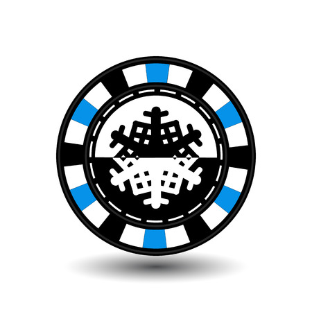 chip poker casino Christmas new year.