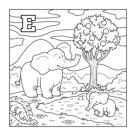E Is For Elephant Illustration