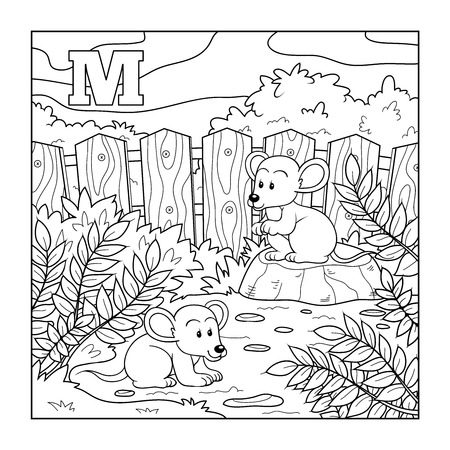 M Is For Mouse Illustration