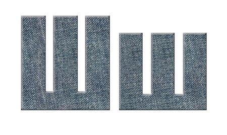 Jeans russian, ukrainian alphabet.