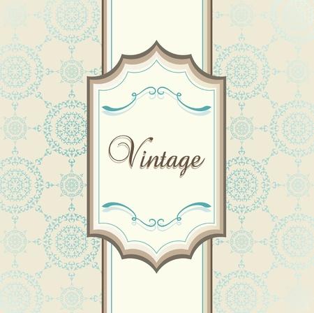Vintage menu vector background with blue elements