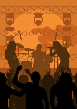 Illustration pour Rock concert landscape background illustration - image libre de droit