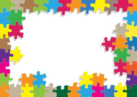 Vektor für Colorful jigsaw puzzle background for poster - Lizenzfreies Bild