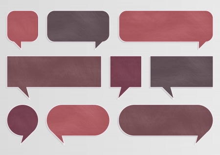 Illustration for Chalkboard organic ecology speech bubbles and balloons illustration collection background vector - Royalty Free Image