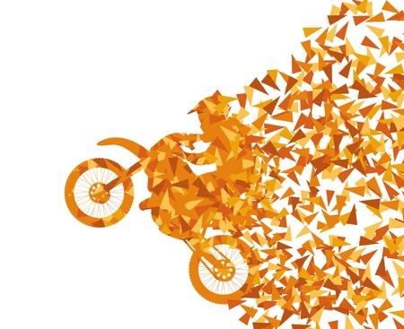 Illustration pour Motorcycle abstract background vector concept - image libre de droit
