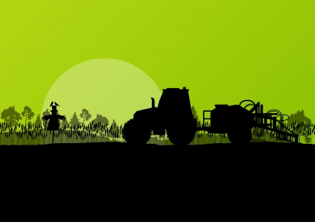 Agriculture tractor vector background